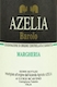 Azelia Barolo Margheria - label