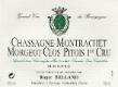 Domaine Roger Belland Chassagne-Montrachet Premier Cru Morgeot Clos Pitois Monopole - label