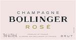 Bollinger Rosé - label