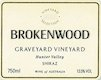 Brokenwood Graveyard Vineyard Shiraz - label