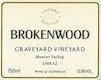 Brokenwood Graveyard Vineyard Shiraz - label