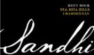Sandhi Bentrock Chardonnay - label