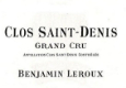 Benjamin Leroux Clos Saint-Denis Grand Cru  - label