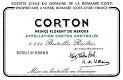 Domaine de la Romanée-Conti Corton Grand Cru  - label