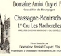 Domaine Guy Amiot et Fils Chassagne-Montrachet Premier Cru Les Macherelles - label