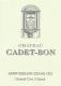 Château Cadet-Bon  Grand Cru Classé - label