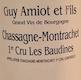 Domaine Guy Amiot et Fils Chassagne-Montrachet Premier Cru Les Baudines - label