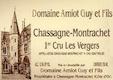 Domaine Guy Amiot et Fils Chassagne-Montrachet Premier Cru Les Vergers - label