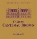 Château Cantenac-Brown  Troisième Cru - label