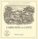 Château Lafite Rothschild Carruades de Lafite - label