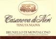 Casanova di Neri Brunello di Montalcino Tenuta Nuova - label