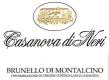 Casanova di Neri Brunello di Montalcino  - label