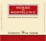 Casanuova Cerbaie Rosso di Montalcino  - label