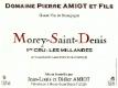 Domaine Pierre Amiot Morey-Saint-Denis Premier Cru Les Millandes - label