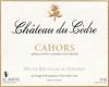 Château du Cèdre  - label