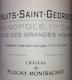 Château de Puligny-Montrachet Nuits-Saint-Georges Premier Cru Clos des Grandes Vignes - label