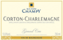 Maison Champy Corton-Charlemagne Grand Cru  - label