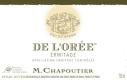 M. Chapoutier Hermitage Ermitage Blanc De l'Orée - label